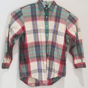 Vintage Ralph Lauren plaid flannel shirt XL GUC